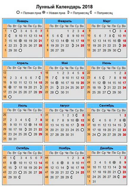Лунный календарь на февраль 2019. Фазы Луны, благоприятные и неблагоприятные дни