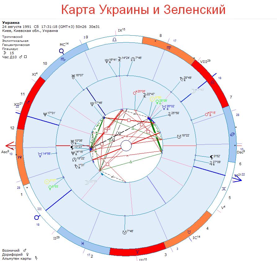 Карта Украины и Зеленский