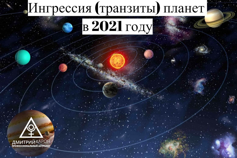 Ингрессия (транзиты) планет в 2021 году